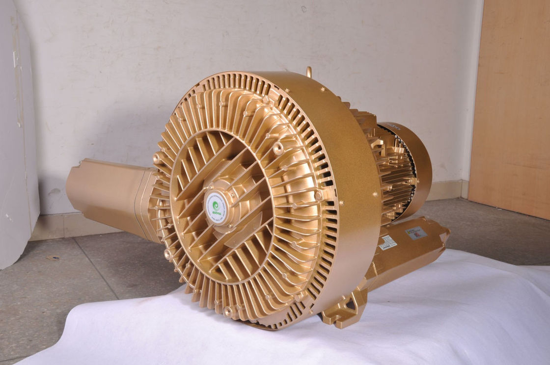 7.5kW Double Stage Ring Air Blower 3 Phase Oil Free With Thermal Protection