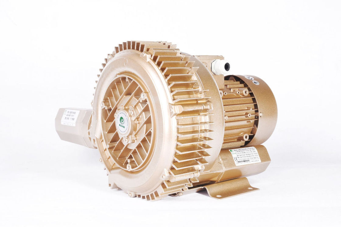 High Volume High Pressure Air Blower 4.6kw Dual Stage Low Noise Turbine Type